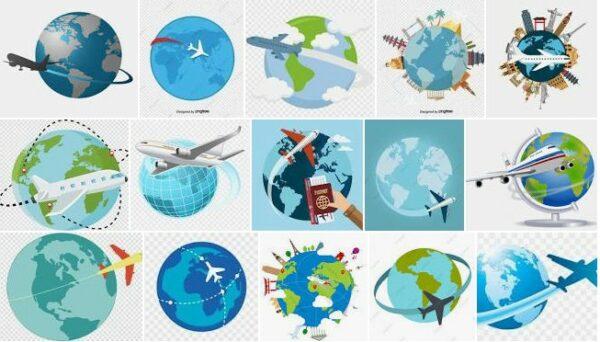 Plane Around The World Png