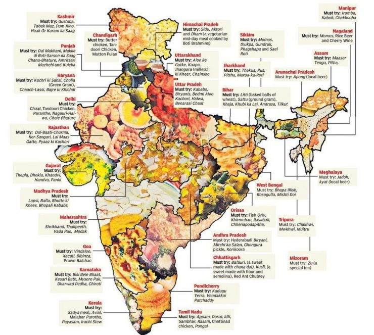 India food map to travel (Pinterest)