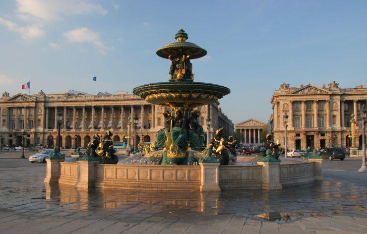 Place de la Concorde Paris, Enchanting Paris Town Square (Pinterest)