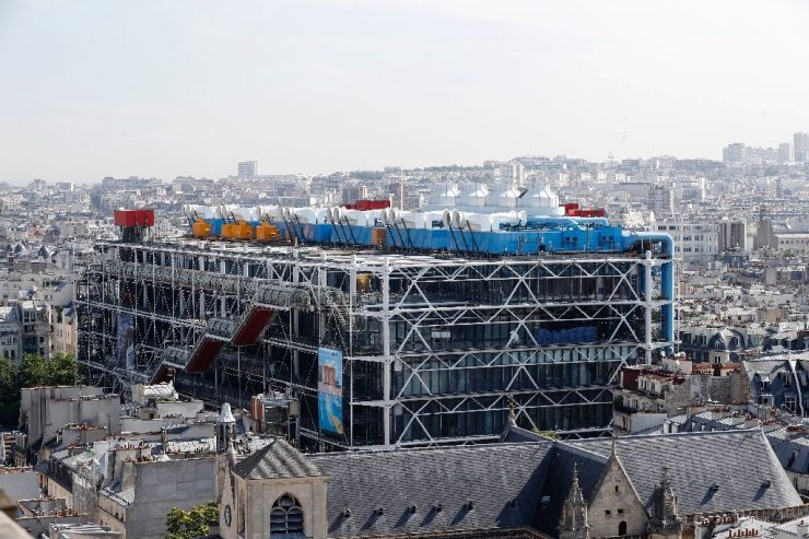 The Pompidou Centre Paris, Art Collection (YAhoo News)