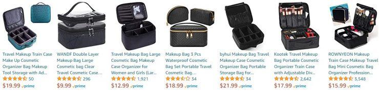 Black Travel Makeup Bag