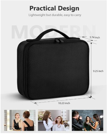 Black makeup bag large (Amazon.com)