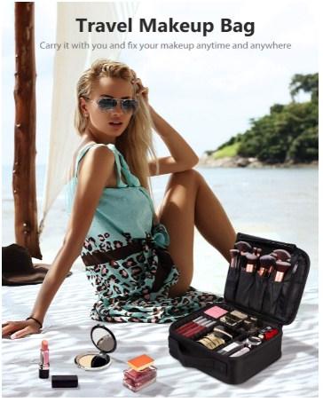 Black square makeup bag (Amazon.com)