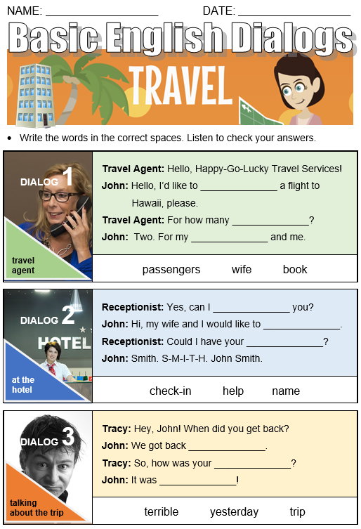 Basic English Dialogs Travel (All Things Topics)