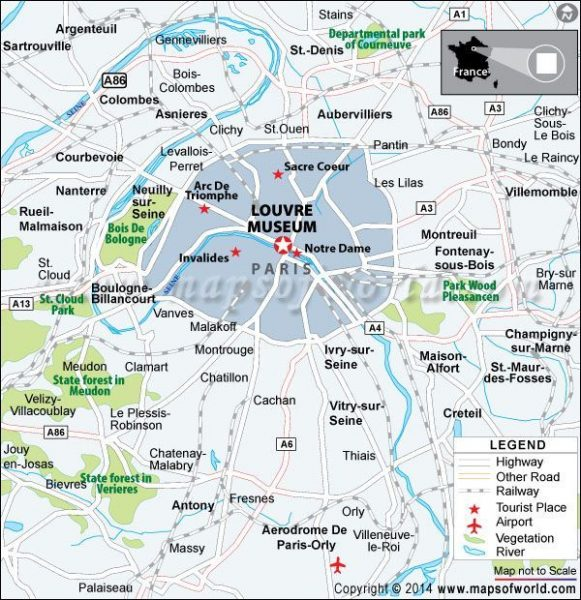 Maps of Louvre Paris Museum (Pinterest)