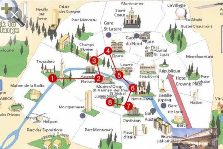 Tourist Places In Paris Map (Pinterest)