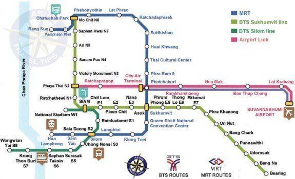 Bangkok Skytrain Maps pdf