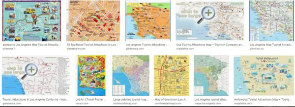 Map Of Los Angeles Tourist Attractions