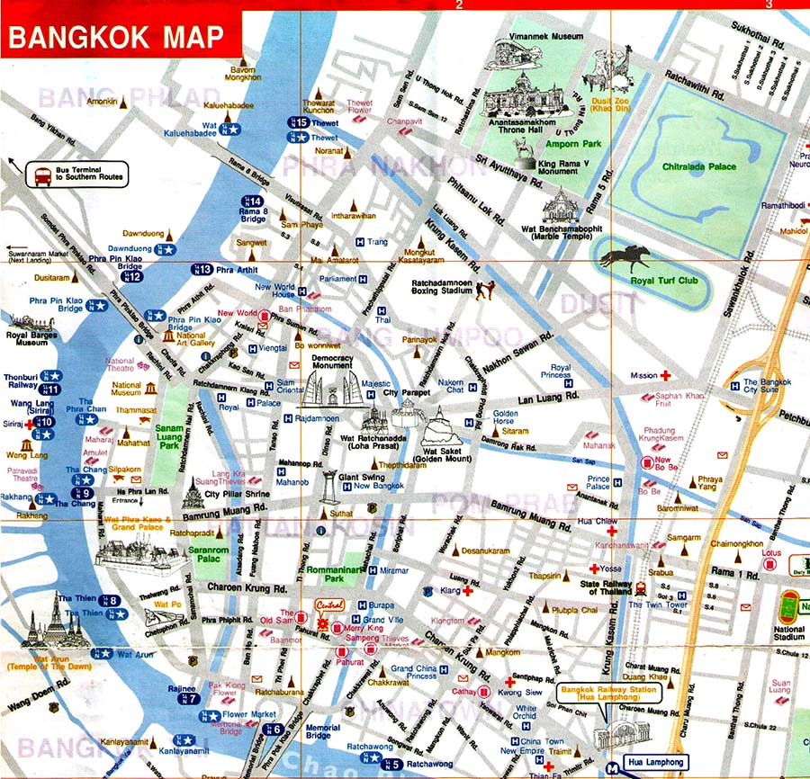 Thailand Map For Tourist