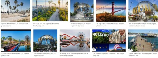 Tourist Attraction In California Los Angeles