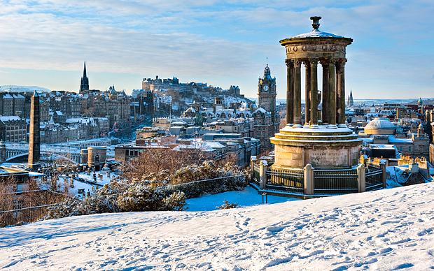 Winter at Edinburgh, Skotlandia