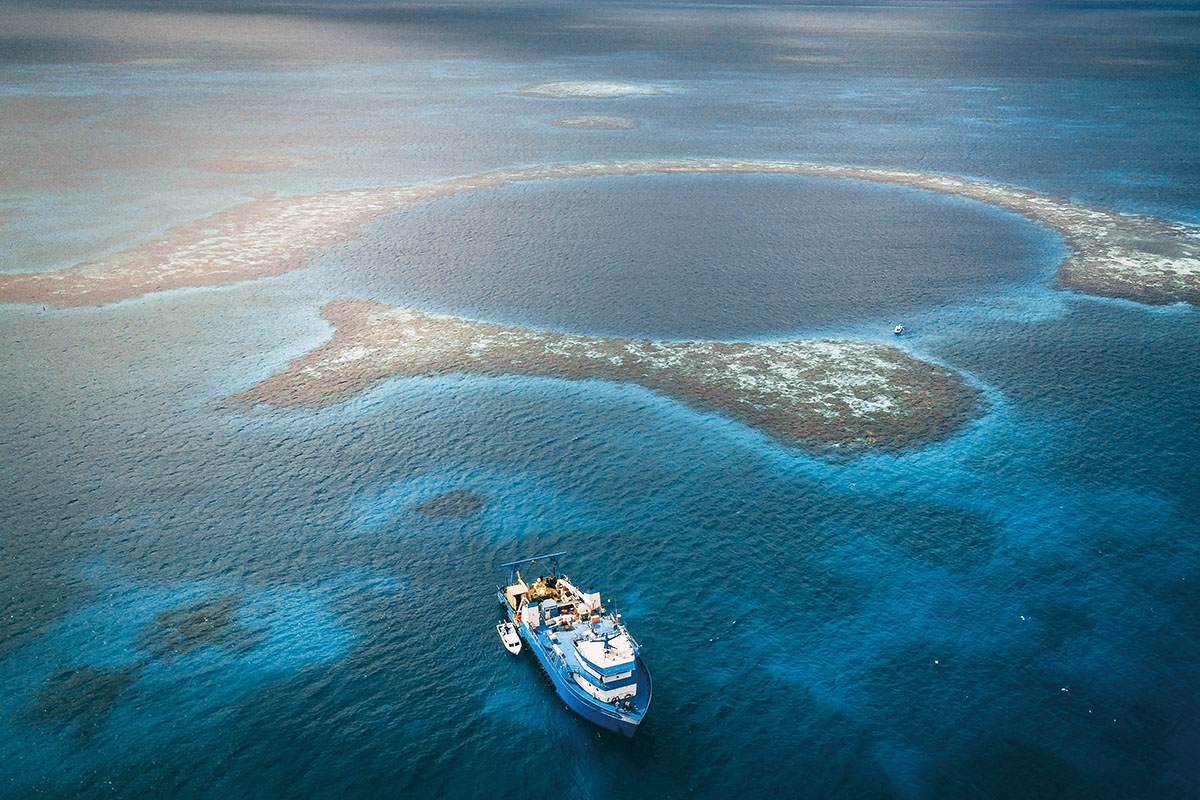 Winter at Great Blue Hole Belize