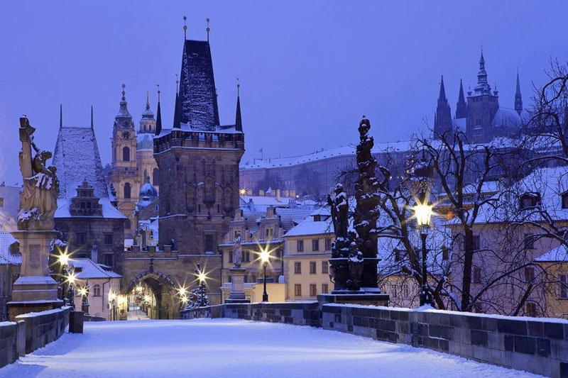 Winter at Praha, Republik Cekoslovakia