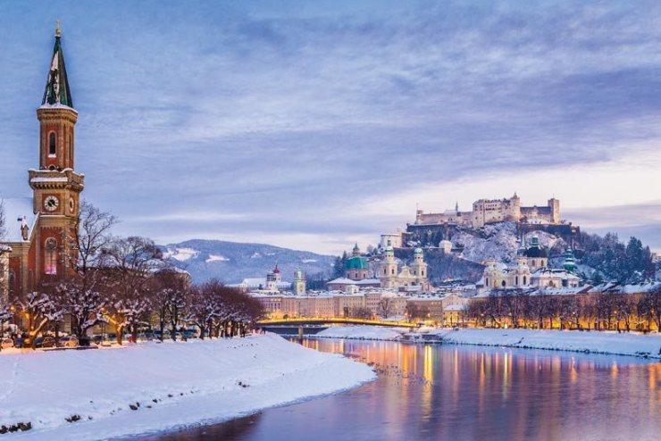 Winter at Salzburg, Austria