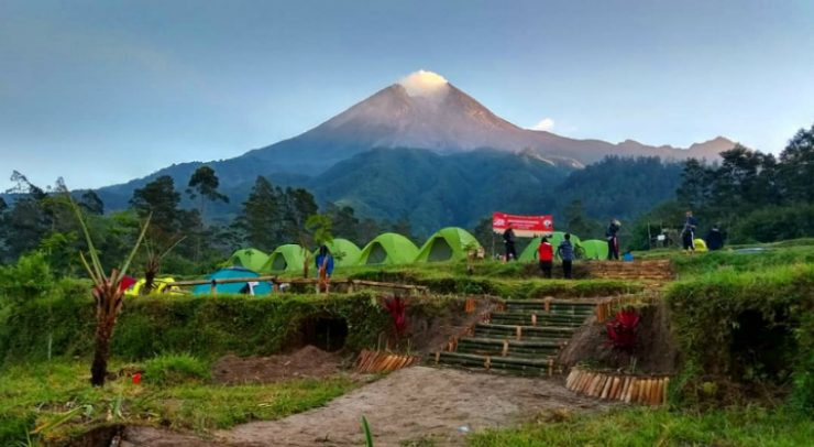 Camping Gound Mount Merapi Tourism Yogyakarta
