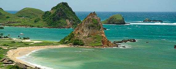 Holiday attractions in Lombok- Kuta Beach