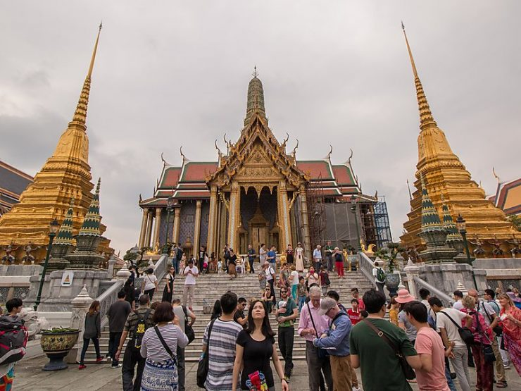 Emerald Buddha Temple tourist sites, Wat Pra Keaw Bangkok