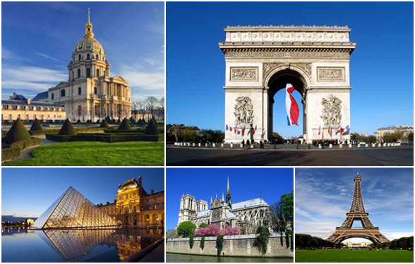 Monuments and monuments in Paris