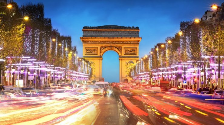 The Arc de Triomphe of Paris