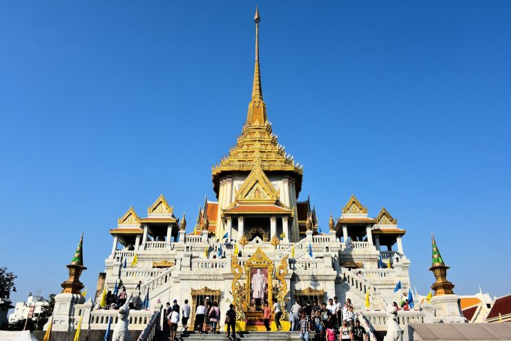 Tourist site of Bangkok's Golden Buddha Temple