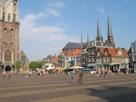 City-center-shops-Delft Town Hall Netherlands