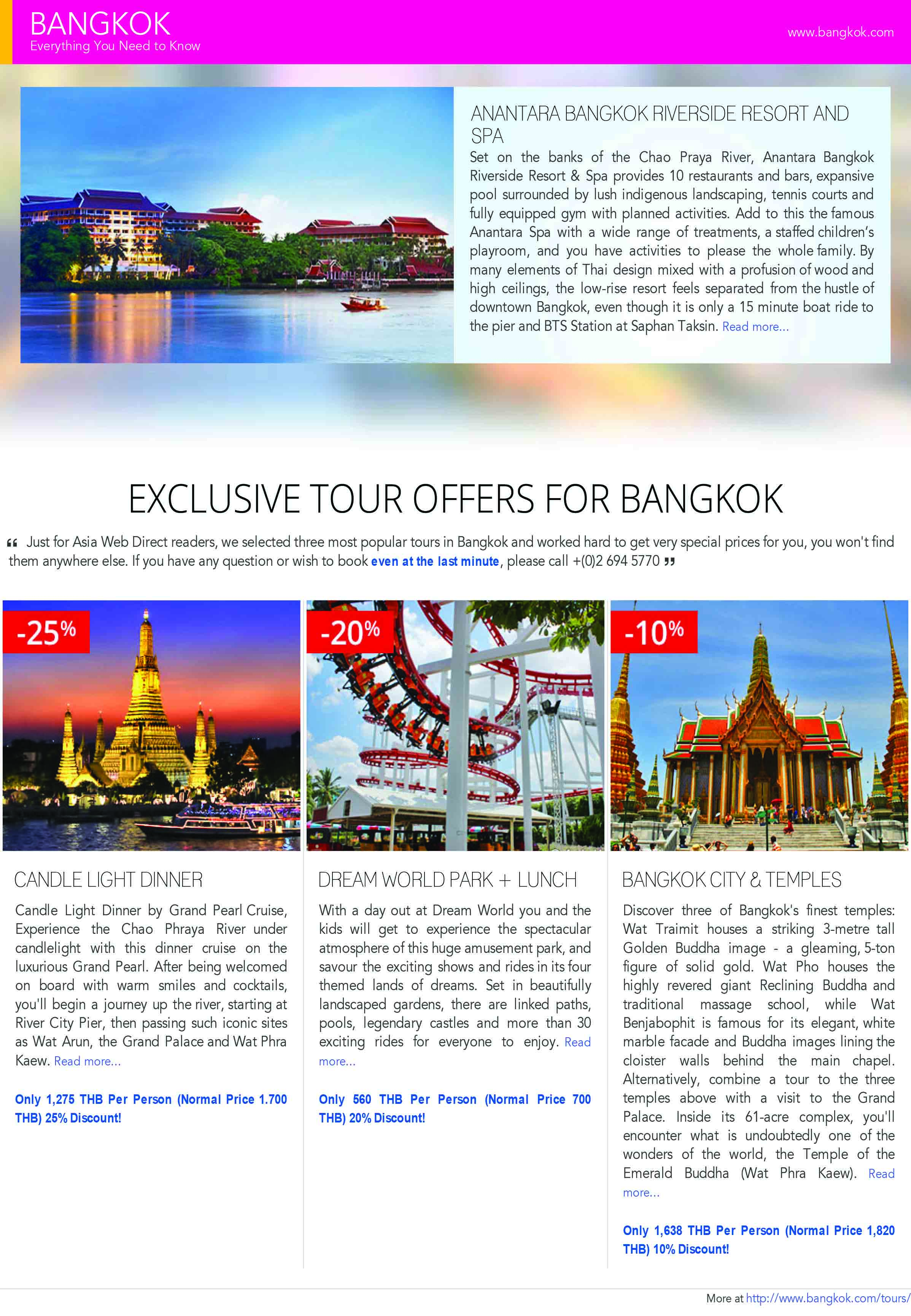 Exclusive Tour Offers For Bangkok