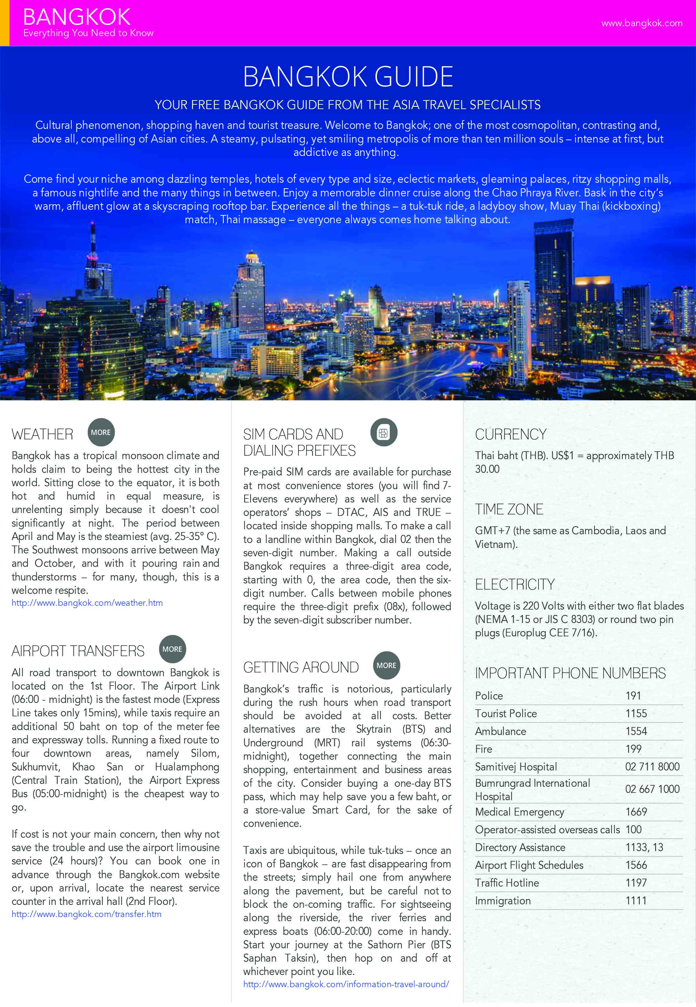 Tourism Bangkok Guide