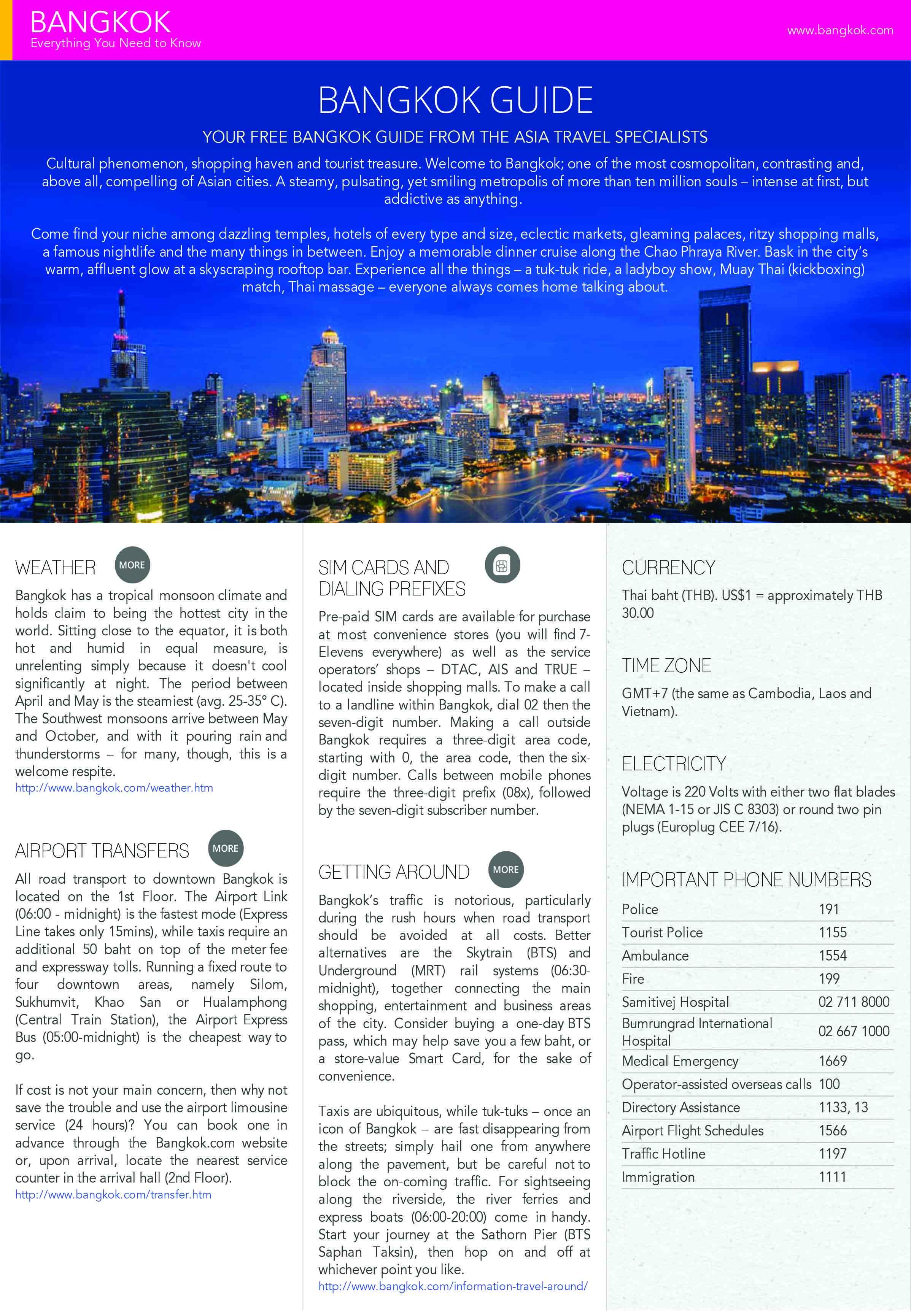 Tourism Bangkok Guide