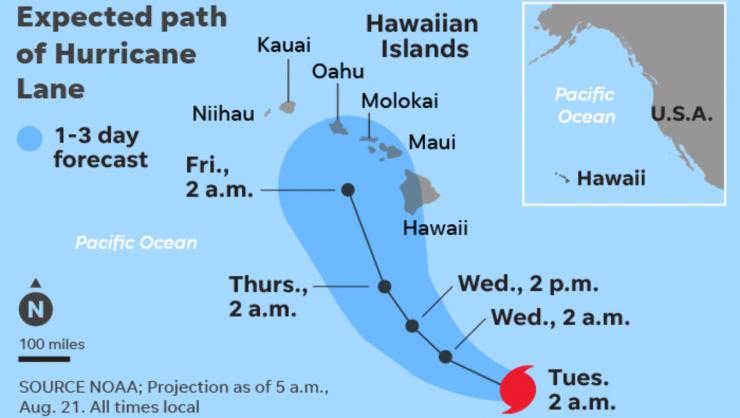 Hawaii Tourism Hurricane Lane