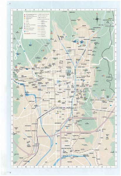 Kyoto travel maps guide book kyoto walking tour free