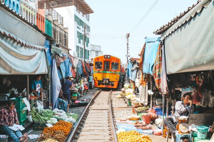 Maeklong Railway Market Bangkok Thailand (Wander In Two-Travel Blog)