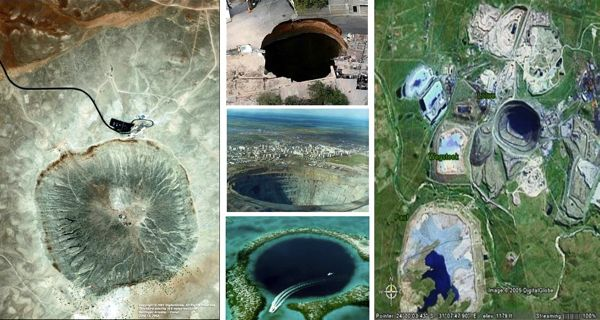 Mysterious big holes on earth