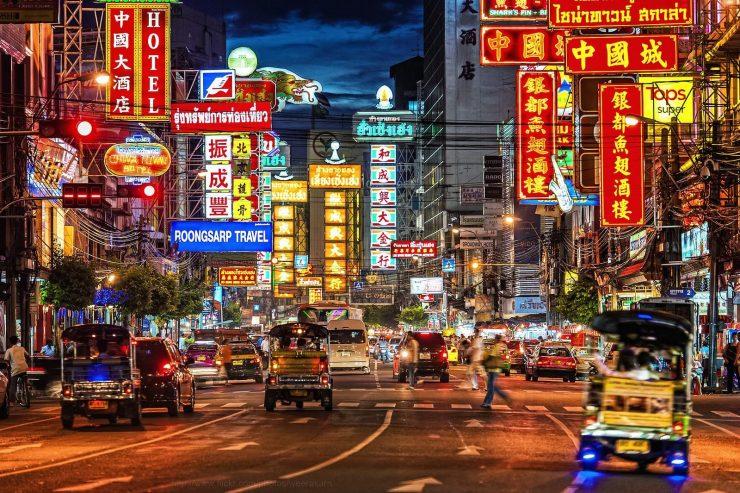 Yaowarat Road Bangkok Thailand (Pinterst)