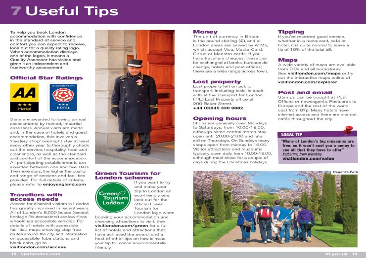Welcome to London - Usfull Tips