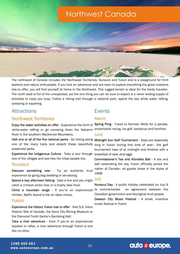 Northwest Canada Driving Guide