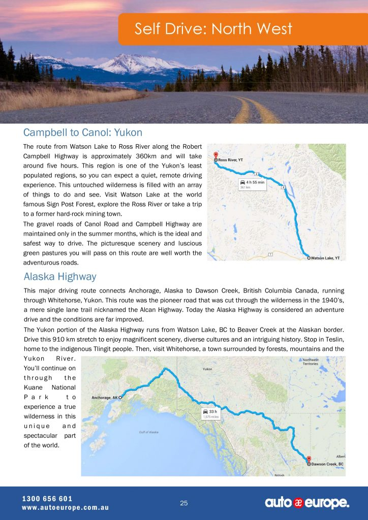 Self Drive: North Wes Canada Driving Guide