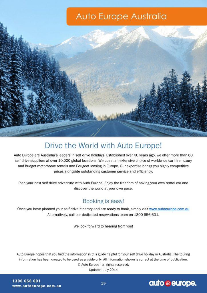 Auto Europe Australia Canada Driving Guide