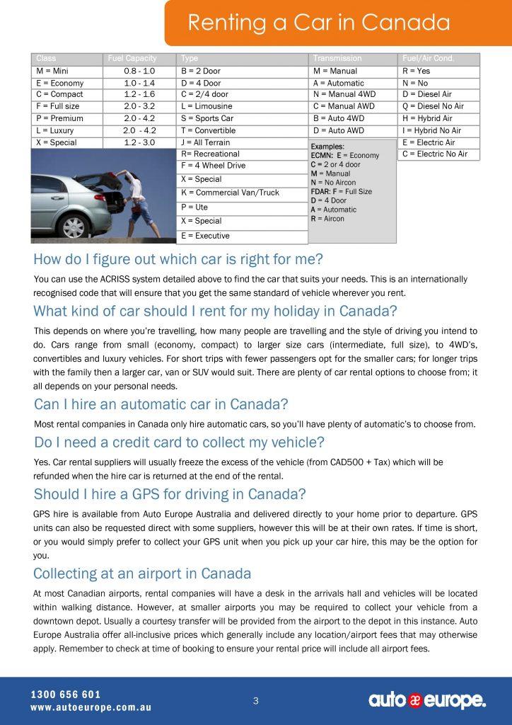 Canada-tourist-Canada-driving-guide