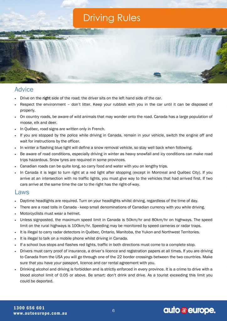 Canada-tourist-package-Canada-driving-guide