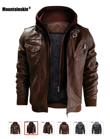 Mountainskin New Men's Leather Jackets Autumn Casual Motorcycle PU Jacket Biker Leather Coats Brand Clothing EU Size SA722 - READ MORE