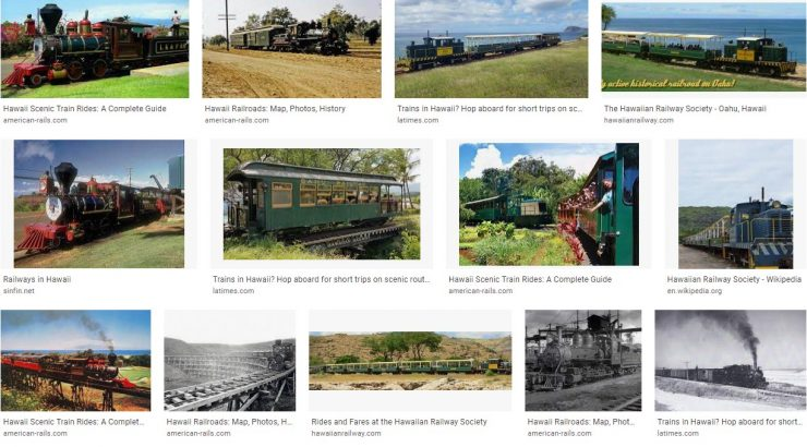 Hawaii Tourist Railroads