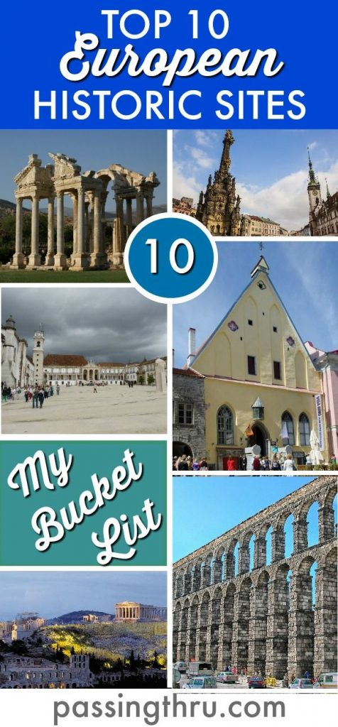 The Top Historic Sights Tourist Attraction in Europe (Pinterest)