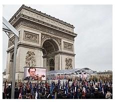 Arc de Triomphe saat perayaan 100 tahun Perang Dunia I pada 11 Nove,mber 2018
