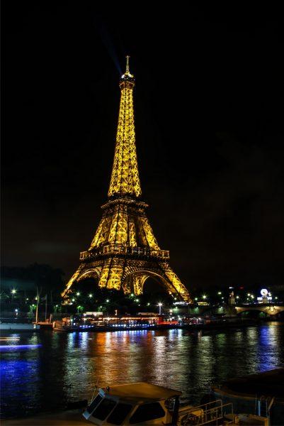 Night the eiffel tower