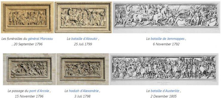 Relief utama di Arc de Triomphe Paris