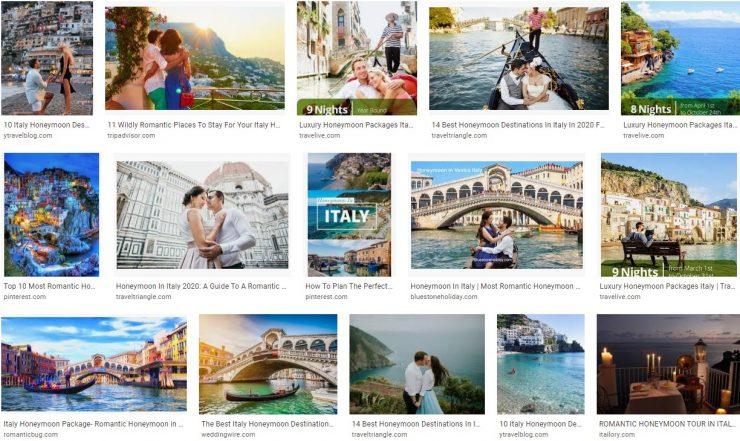 Honeymoon Tour Of Italy