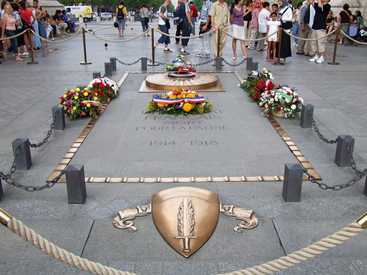 Tomb of the Unknown Soldier France at the Arc de Triomphe Paris