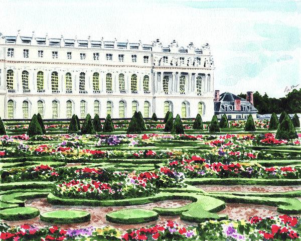 Gardens of Versailles palace chateau springtime Paris France Marie Antoinette Laura Row (Fine Art America)