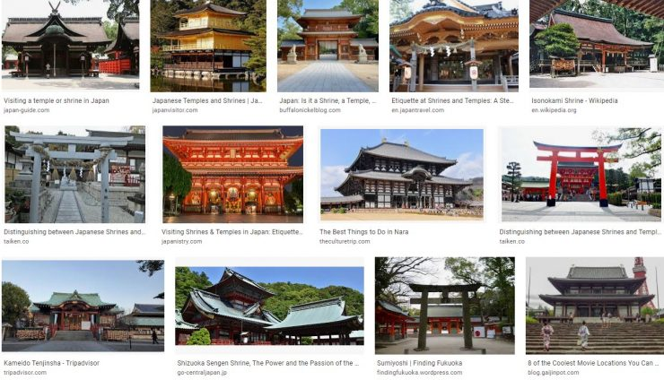 Inspectthe shrines and temples. Japan