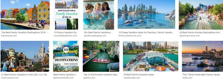 A Great Family Vacation Destinations